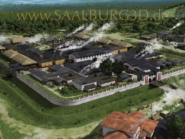 Saaalburg 3D digitale Rekonstruktion